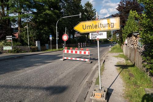 Sanierung der B23 in Oberau
