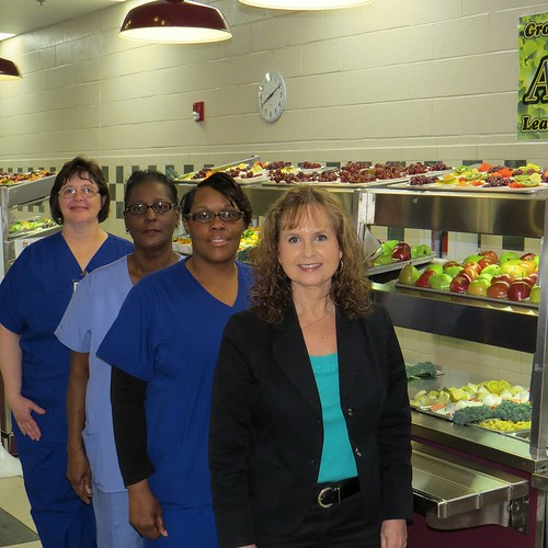 Jackson-Madison County School System School Nutrition Director Susan Johnson and School Nutrition Field Managers Rena Harris, Betty Willingham, and Susie Murchison. Credit: Jackson-Madison County School System