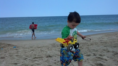 Bethany Beach - July 30th - Sagan with Bulldozer on Beach