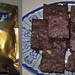Ghirardelli sweet cocoa brownies (recipe on the back of the pouch)--best brownies ever.