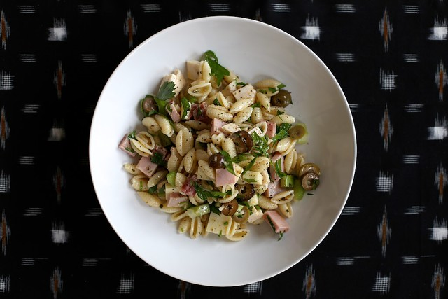 Muffuletta Pasta Salad by joy the baker