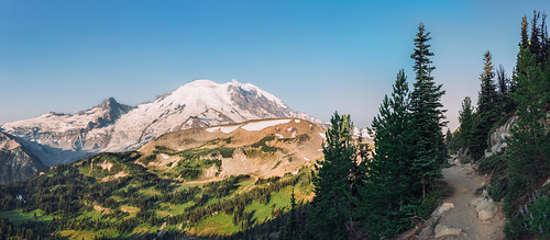 mountain nature landscape outdoors day path scenic bluesky panoramic clear trail pacificnorthwest washingtonstate mtrainier canoneos5dmarkiii sigma35mmf14dghsmart