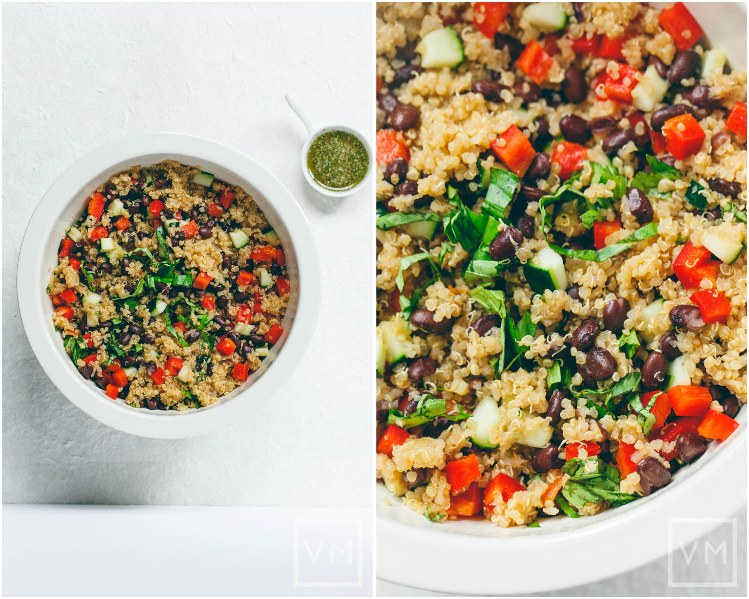 Quick Quinoa & Black Bean Salad with Spicy Cilantro Vinaigrette