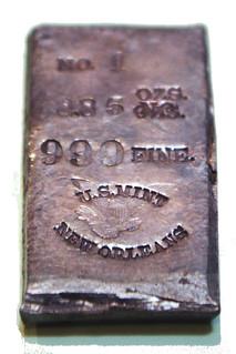 New Orleans Mint silver ingot