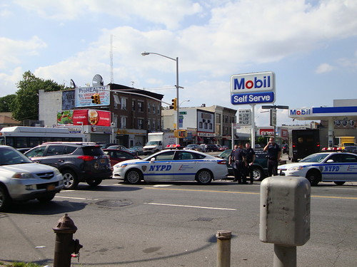 car accident on Coney Island Ave and Ave P, Brooklyn, NY 08/04/2014