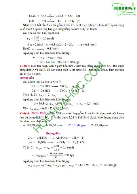 những Phương pháp giải bài tập trắc nghiệm hoá học thi đại học