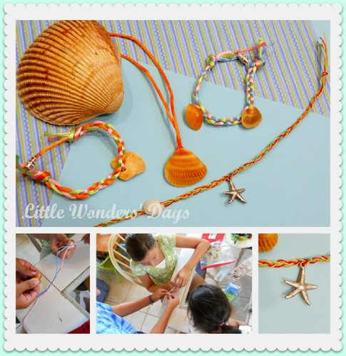 Beach Friendship Bracelets (Photo from Little Wonders' Days)