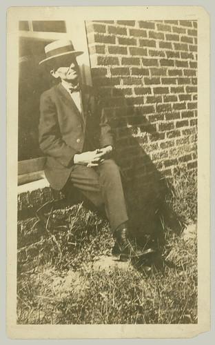 Man on window sill
