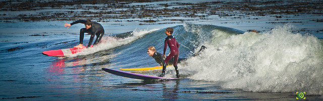 Surfing from Pleasant Point, Santa Cruz