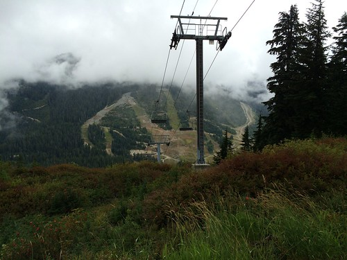 Walking down below the Eagle Express Chairlift (Cypress mountain)