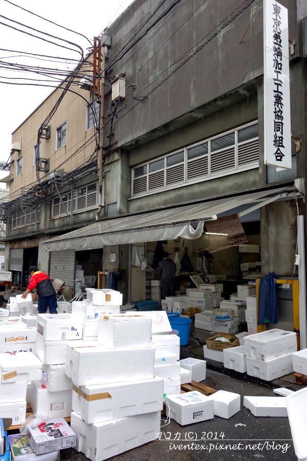 21日本東京築地市場