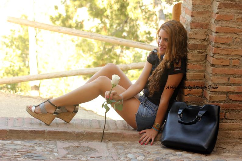 cuñas blancas y negras Marila HEELSANDROSES shorts denim (9)
