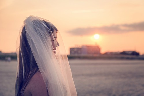 wedding sunset people woman beach bride newjersey sand veil nj crest shore jersey wildwood goldenhour wildwoods