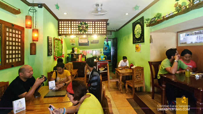 Inside Lampong's Restaurant in Vigan