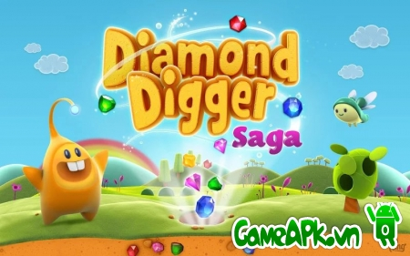 Diamond Digger Saga v1.6.0 Hack Full Lives & Boosters Cho Android