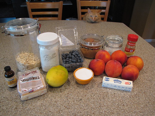 Peach Blueberry Crumble Ingredients