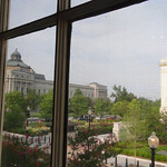 View of Library of Congress from three large apartment windows