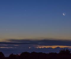 Moon Venus & Jupiter Conjunction over Yorkshire