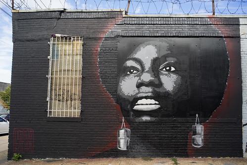 Damien Mitchell's Nina Simone, Bushwick, Brooklyn