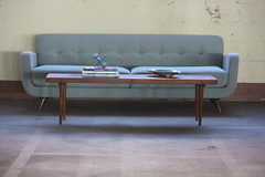 Exceptional Midcentury Modern Slat Bench Coffee Table Bench (U.S.A., 1950s)