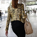 FW9-14  28w gold and black print cropped jacket