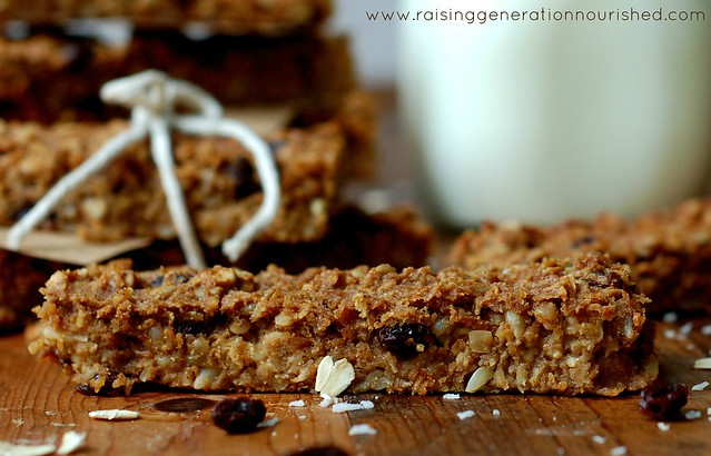 Simple Soaked Granola Bars :: Gluten, Egg, Dairy & Refined Sugar Free with Nut Free Option