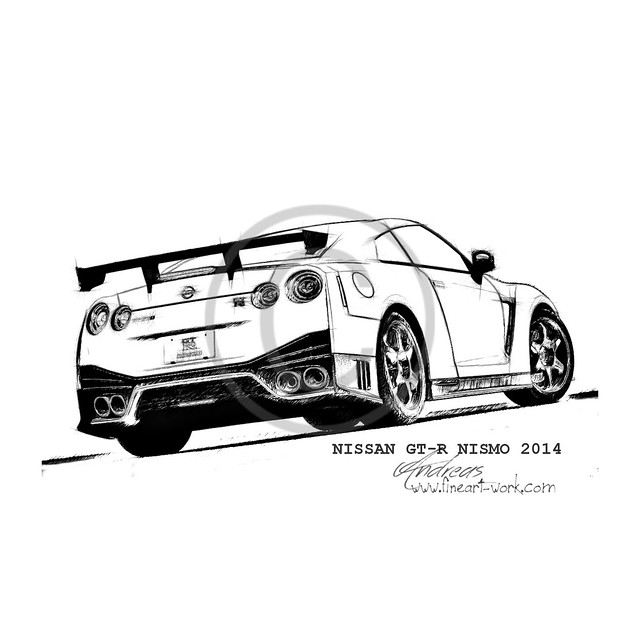 nissan gtr nismo coloring pages | Nismo Nissan Gt R Coloring Pages