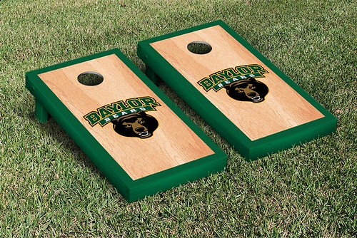 Baylor Bears Cornhole Game Set Logo Hardcourt Version