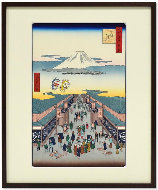哆啦A夢在江戶~ 限定200 枚的超貴重浮世繪!