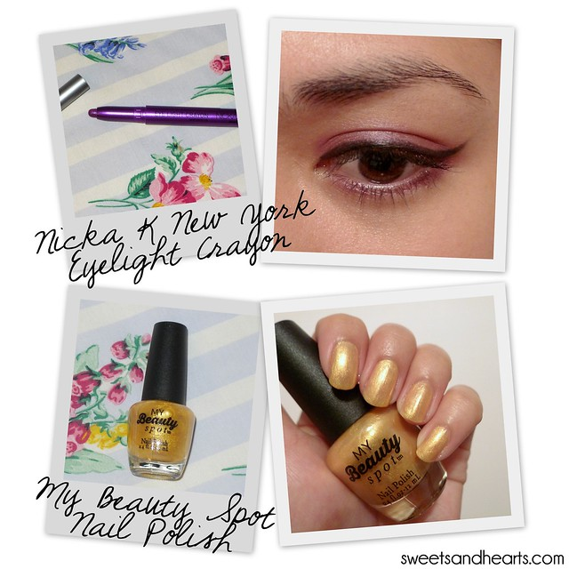 Beauty Box 5: Nicka K New York - Eyelight Crayon - My Beauty Spot - Nail Polish Review and Swatches