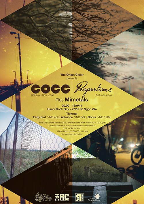 COCC + Proportions + Mimetals Live at Hanoi Rock City