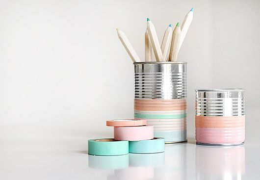 washi tape pen cup