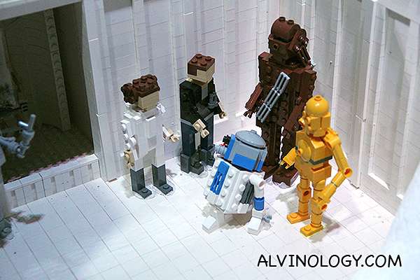 Gathering of the key founding characters of the Star Wars series