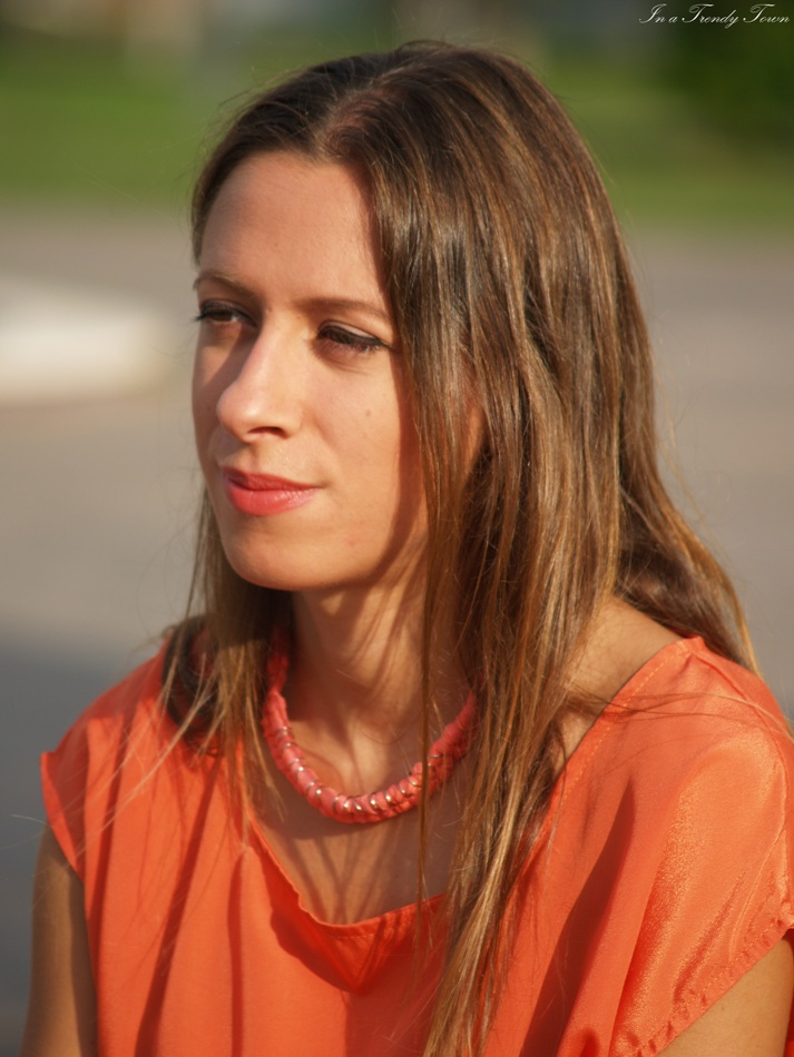 Outfit: Orange and coral