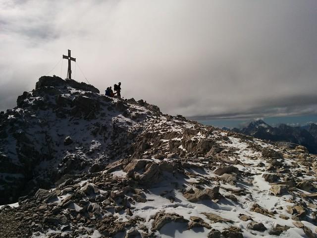 Gipfel Hochbrunner Schneid 3.046 m, Sextner Dolomiten