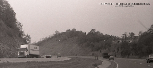 Tri-X Files 84_22.10a: Clays Ferry Formation Along Interstate 75, Approaching Clays Ferry Bridge
