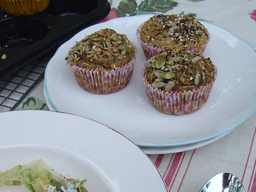 Apple & Cranberry Muffins with Toasted Seedy Sprinkle