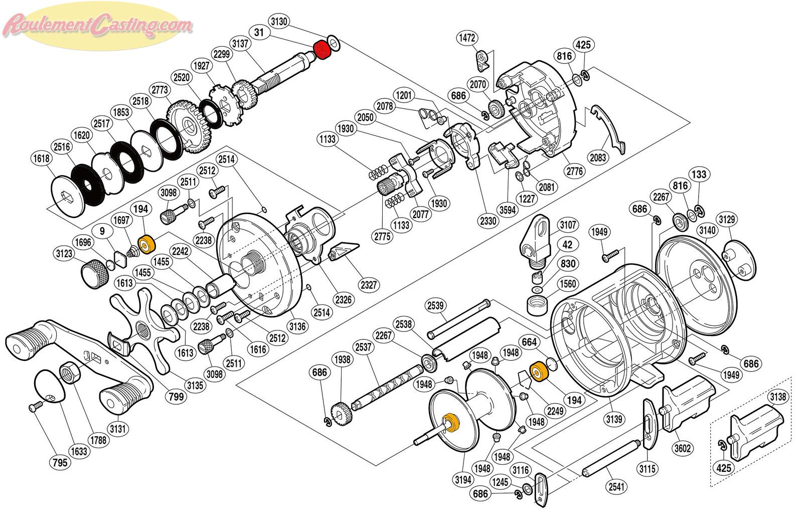 Schéma Shimano 08' Corvalus 301