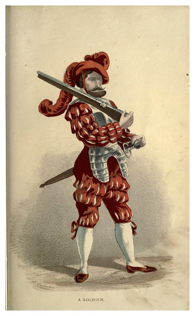 010-Un soldado veneciano-Select historical costumes compiled from the most reliable sources -1868