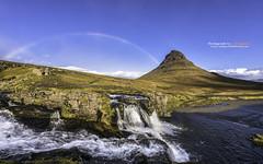 Rainbow over Kirkjufell, Iceland