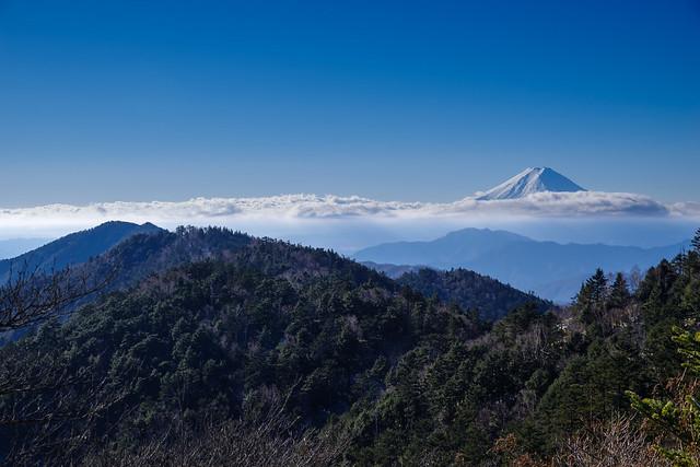 富士山、牛奥ノ雁ヶ腹摺山、黒岳@小金沢山