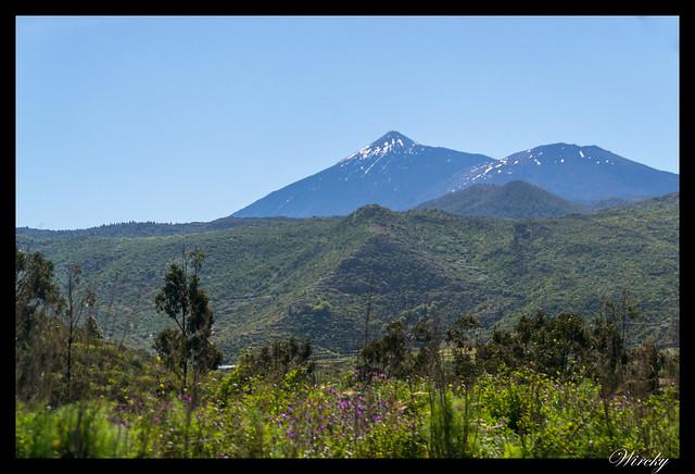 Tenerife Santiago del Teide acantilados los Gigantes Vilaflor - Teide desde Erjos de El Tanque