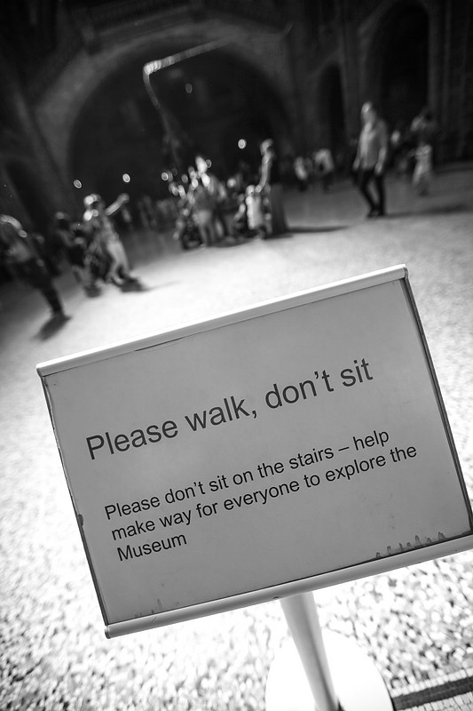 Please walk, don't sit