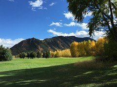 Aspen Mtn south face as seen from the golf course