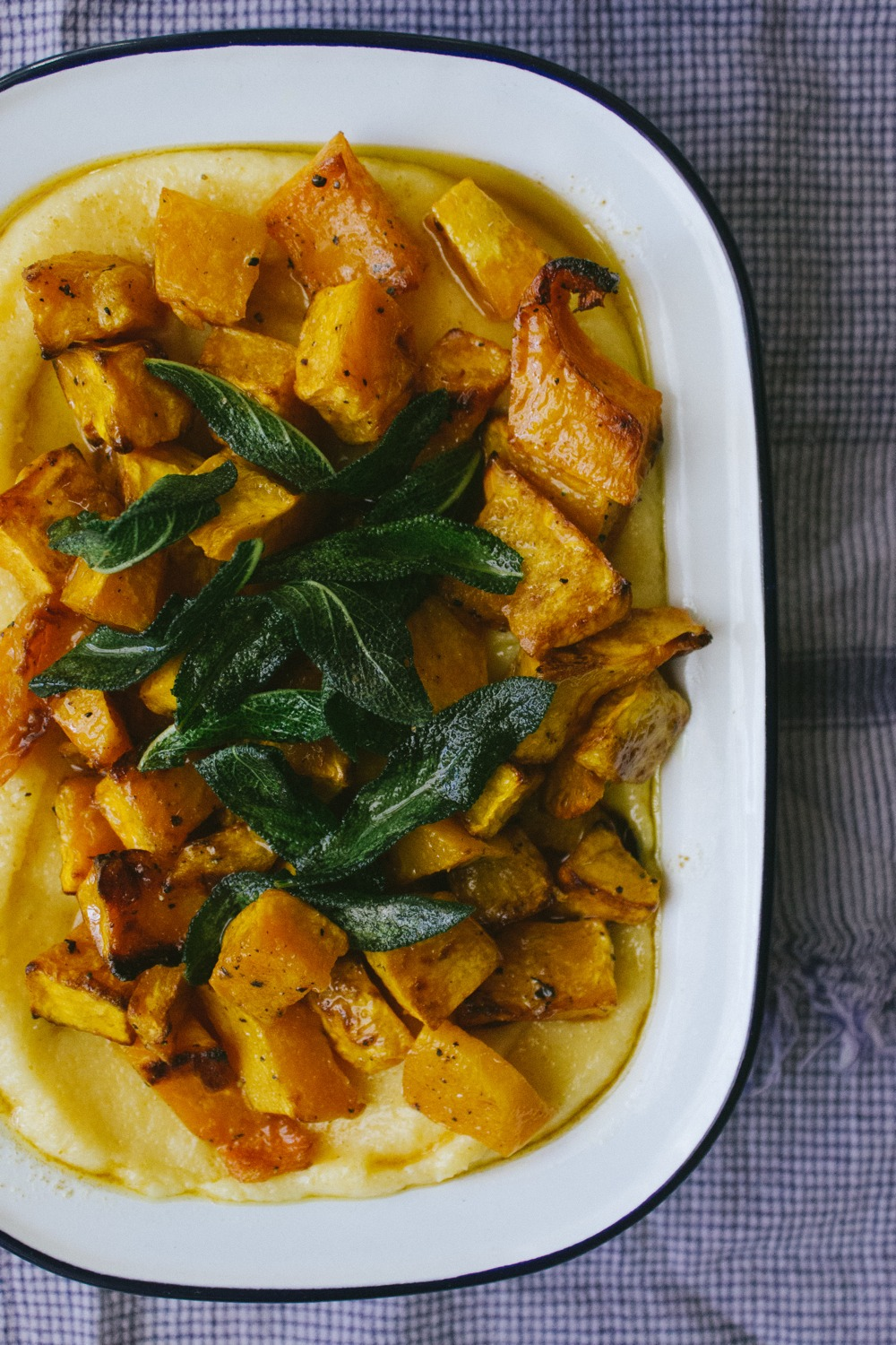 Polenta with Roast Pumpkin and Brown Butter