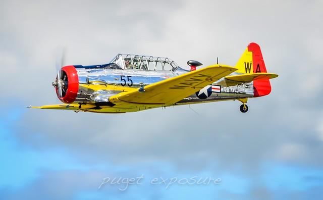 The North American SNJ  Heritage Flight Museum