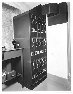 Photograph of the Motion Picture Film Vault in the Division of Motion Pictures Projection Booth, 06/26/1936