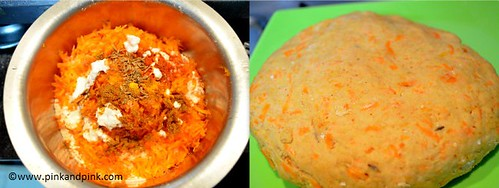 Carrot Chapathi Ingredients