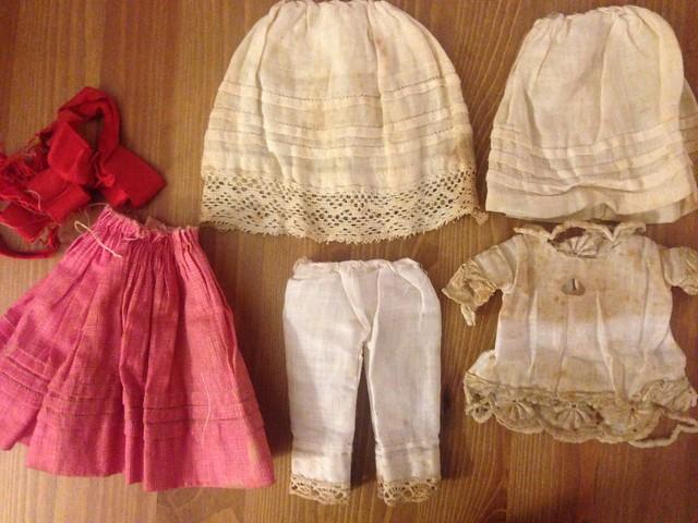 Antique doll's original (?) clothes
