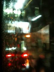 Paseo una noche de lluvia